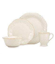 Lenox French Perle White Dinnerware | Dillards.com