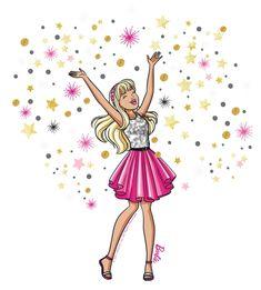 New official Barbie art Barbie Dvd, Barbie Movies, Barbie And Ken, Barbie Cartoon, Girl Cartoon, Cartoon Art, Cartoon Illustrations, Barbie Birthday, Barbie Party
