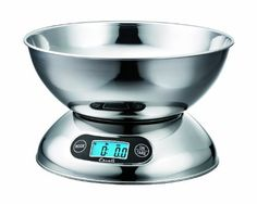 Escali R115 Rondo Stainless Steel Bowl, 2-Quart by Escali. $49.95. Includes dishwasher safe stainless steel bowl. Includes tare feature (add and weigh). 11 pound or 5000 gram capacity. Measures liquid and dry ingredients. Simple 2 button operation. High quality stainless steel with bright blue backlight display and simple 2-button operation. Capable of weighing both liquid and dry ingredients, the Rondo comes equipped with a dishwasher safe removable bowl which ca...