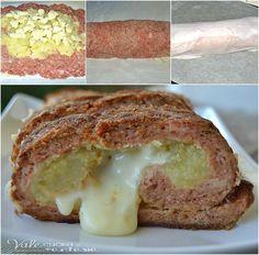 Polpettone ripieno con patate e scamorza