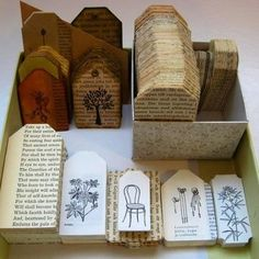 Recycle old book pages.