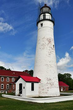 The Fort Gratiot Lighthouse is in Port Huron, Michigan.