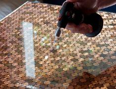 handmade countertop ideas epoxy resin countertop coins countertop