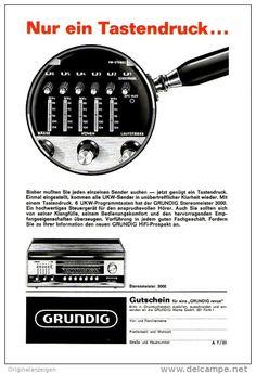 Original-Werbung/ Anzeige 1966 - 1/1-SEITE - GRUNDIG  STEREOMEISTER 3000 RADIO…