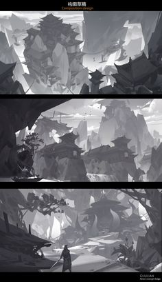 Composition design, G liulian on ArtStation at https://www.artstation.com/artwork/Dm3vO