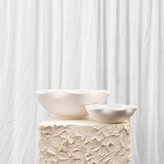 Large View Candle Holders, Ceramics, Large White, Natural Materials, Terracotta, Collection, Organic, Display, Colour