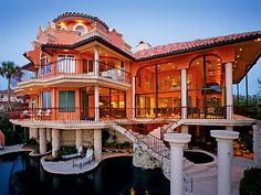 Hideaway Beach Beauty - Marco Island.  Such a -gorgeous- home. The interior is beautiful, too.