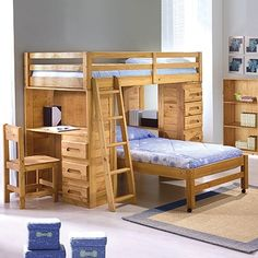 Explorer Ginger Student Loft Bunk Bed Twin/Twin, Price: $679.00