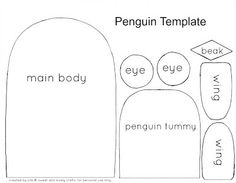 sweet and lovely crafts: cute penguin craft template