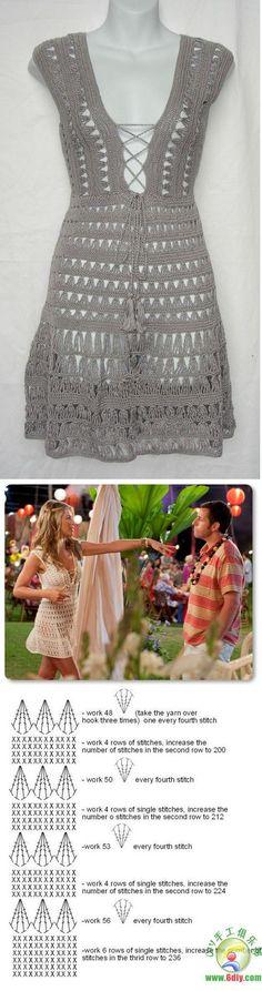 """Boooom diaaa…. Hoje trago um lindo vestido para os dias mais frescos, para ser usado na Primavera/Verão. A atriz Jennifer Aniston usa-o em uma das cenas do filme """"Esposa de mentirinha (…"""