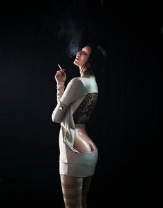 Henriett Barabas photographed by Boris Ovini for Dahse Magazine, Autumn & Winter 2012 — Portraits Of Girls Photography Women, Fashion Photography, The Libertines, Smoke Art, Women Smoking, Fashion Art, Womens Fashion, Fall Winter, Autumn