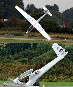 nobody died! friday #55: S-1 Swift Glider, Shoreham Airshow, August 22nd 2010