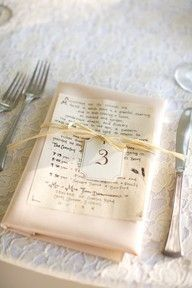 rustic idea for a place card