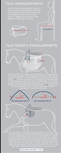 Measuring for saddle size for rider