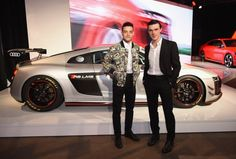 Rami Malek and Finn Wittrock at the Audi Sport Launch Event Which is the Bro-iest Title Ever