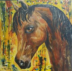 Original acrylic horse  painting. Barbara Paddack Art