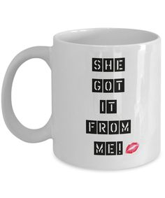 Mom's Mug, Sassy Mother/Daughter Mugs, Valentine's Day Gift, Mother's Day Gift, Best Friends Mug Set
