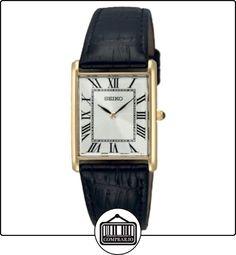 Seiko SFP608P1 - Reloj analógico de caballero de cuarzo con correa de piel negra - sumergible a 30 metros de  ✿ Relojes para hombre - (Gama media/alta) ✿