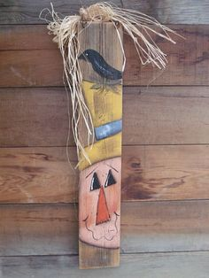 Barn wood Fence Scarecrow Fall Decoration
