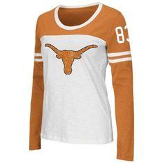 Texas Longhorns Colosseum Women's Hornet Long Sleeve T-Shirt - White