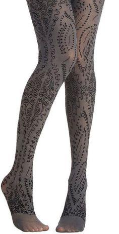 00f0c5784d Modcloth Gray Flocked To See Tights Collant Grigi, Collant Fantasia, Collant  Sexy, Autoreggenti