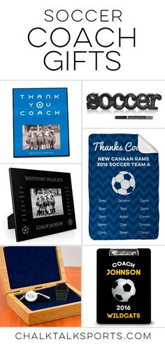 Soccer coach gift ideas for every budget. Unique and personalized gift ideas that make truly meaningful gifts for soccer coaches. Creative coach gift ideas you can only find at chalktalksports.com