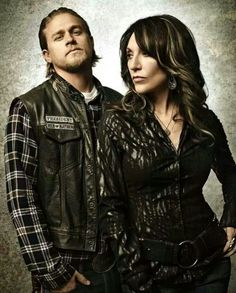Jax and Gemma Teller, Sons of Anarchy, SAMCRO, SOA, bikers, brothers, family, great tv, mother and son, photo