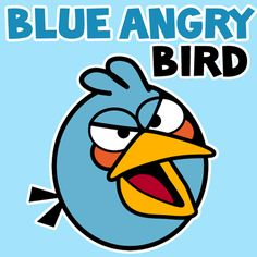 How to Draw Blue Bird from Angry Birds with Simple Step by Step Drawing Instructions