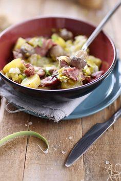 Une petite poêlée pour accueillir l'automne. Des légumes pour faire le plein de vitamines et des gésiers pour la gourmandise. En un mot : délicieux ! 1- Ém