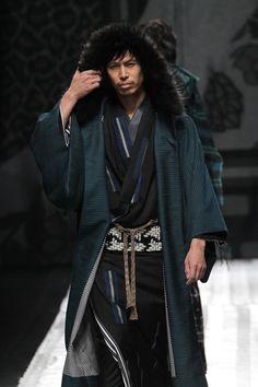 Haori with fur trim