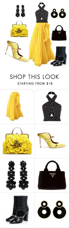 """""""Untitled #1732"""" by styledbytjohnson on Polyvore featuring Malone Souliers, Simone Rocha, Prada and Chanel"""