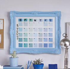 DIY Paint chip Calendar                                                       …