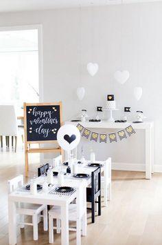 Mesa de San Valentin moderna y chic
