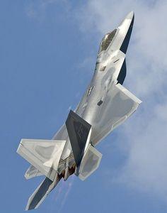 Raptor hunger for Bear meat. Stealth Aircraft, Fighter Aircraft, Military Jets, Military Aircraft, Military Weapons, Air Fighter, Fighter Jets, Airplane Fighter, F22 Raptor