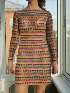 Colorful crochet dress ♥LCA-MRS♥ with diagrams.