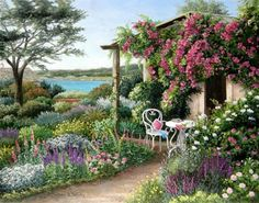 Barbara Rosbe Felisky I would love to walk into this painting!