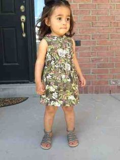 The House of Beal: fashion, toddler fashion, little girl, safari dress