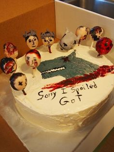 For when you let something slip: | 29 Incredibly Specific Apology Cakes