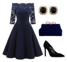 """""""chics"""" by mchlap on Polyvore featuring Yves Saint Laurent, Ted Baker and Jona"""