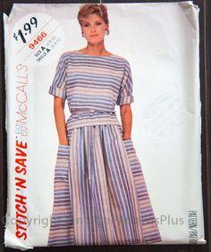 Vintage McCall's Misses' Top and Skirt by VintagePatternsPlus, $4.50