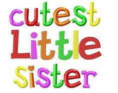 Cutest Little Sister Onesie on Etsy, $18.00