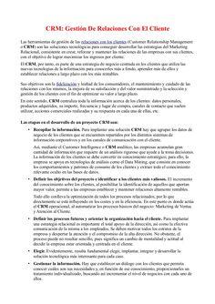 CRM: Gestión De Relaciones Con El Cliente by Fernando Amaro via Slideshare
