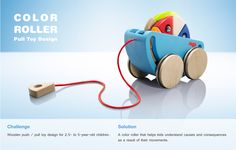 Color Roller - Wooden Pull Toy Design on Behance