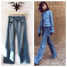 Wide eyed  over these wide legged jeans!  We're in love! Layer them with a denim top and jacket ...