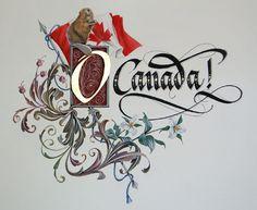 Canadian national anthem first page calligraphy: by Barbara Calzolari illumination:  from Tiziana gironi