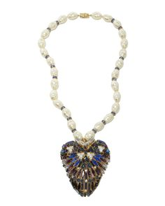 #pearlnecklace Heart Necklace and Brooch £2010 Hanna Bernhard for COUTURELAB
