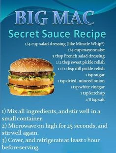 Big Mac Secret Sauce Recipe..there are a lot of clones out there..still looking for a good one..this does sound a little different than the ones I've tried...