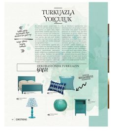 Renklerin dili olduk ve bu sayımızda size Turkuaz fısıldadık dünyayı #dekotrendburada #dekorasyonstil #interiordesign #mimarlik #turkuaz