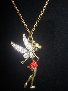 Pixie Pendant Jewelry Vintage Peter Pan Fairy  Girls Women Long Party Birthday  #Unbranded #Pendant