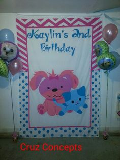 Cat kitty dog puppy party theme decor banner wall hanging  I take custom orders, contact me